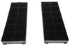 UPO CH cooker hood active carbon filters 2pcs, 250x95x25mm