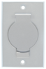 Central vacuum wall inlet, white