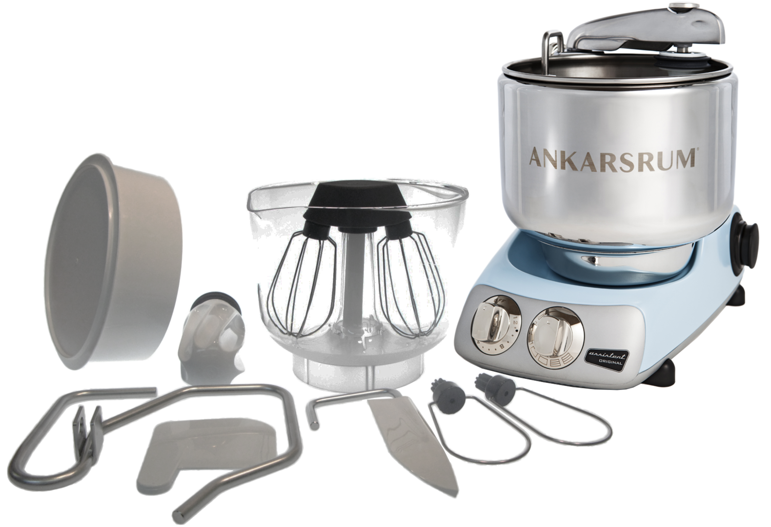 Ankarsrum Original Multifunction Mixer, Pearl Blue (2300102)
