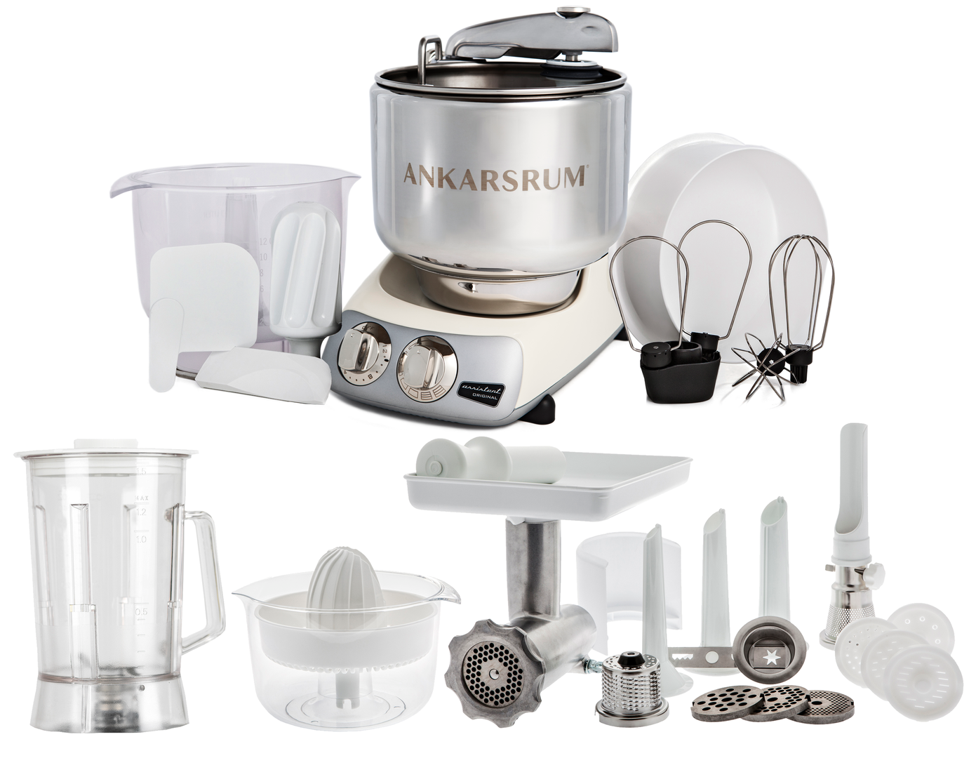 Ankarsrum Original AKM6290CL Deluxe mixer, light crème (2300110)
