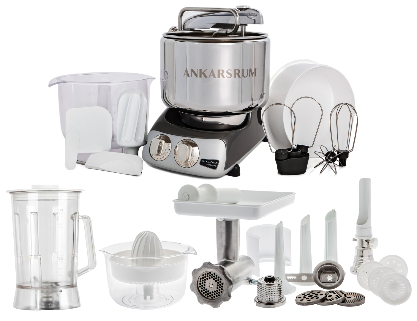 Ankarsrum Original AKM6220BC Deluxe mixer, black chrome (2300107)