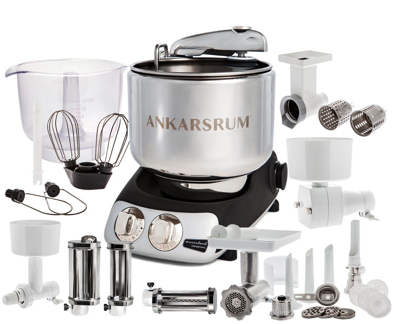 Ankarsrum Original AKM6220B Total mixer, matte black (2300100)