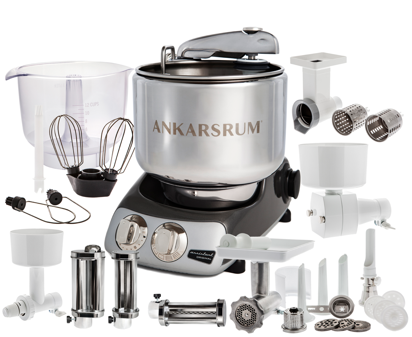 Ankarsrum Original Total mixer, Black chrome (2300107)