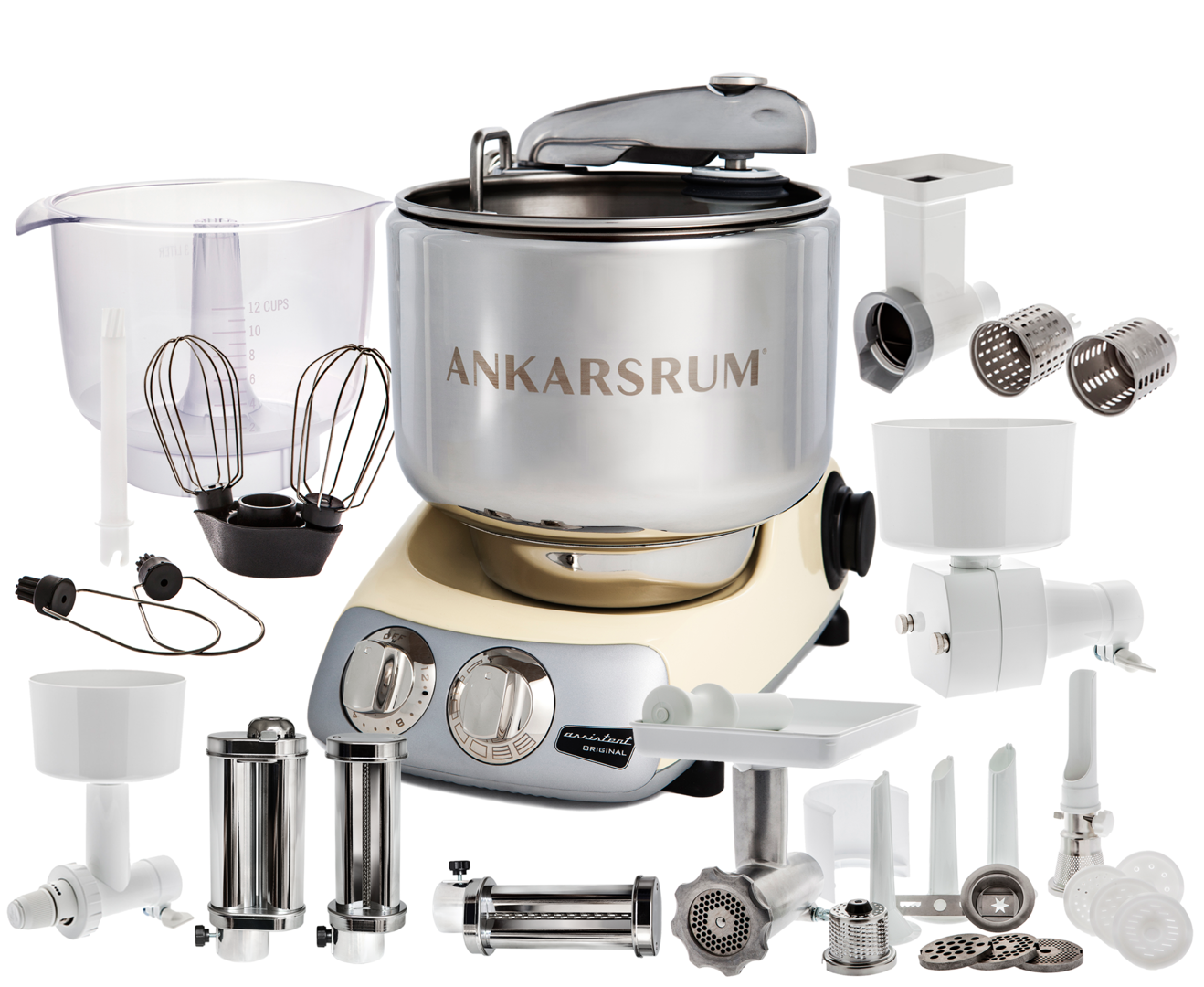 Ankarsrum Original AKM6220B Total mixer, Creme (2300106)