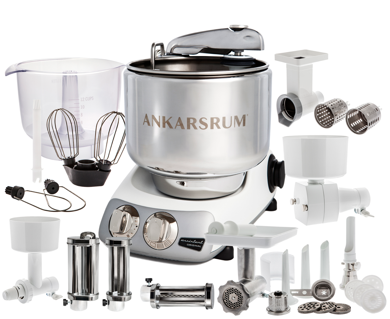 Ankarsrum Original AKM6220B Total mixer, White (2300101)