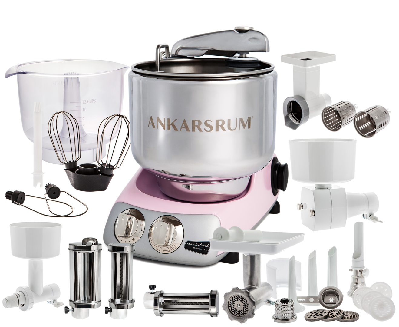 Ankarsrum Original AKM6230B Total mixer, Pink (2300103)