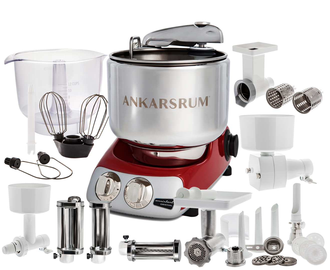 Ankarsrum Original AKM6230R Total mixer, Red (2300105)