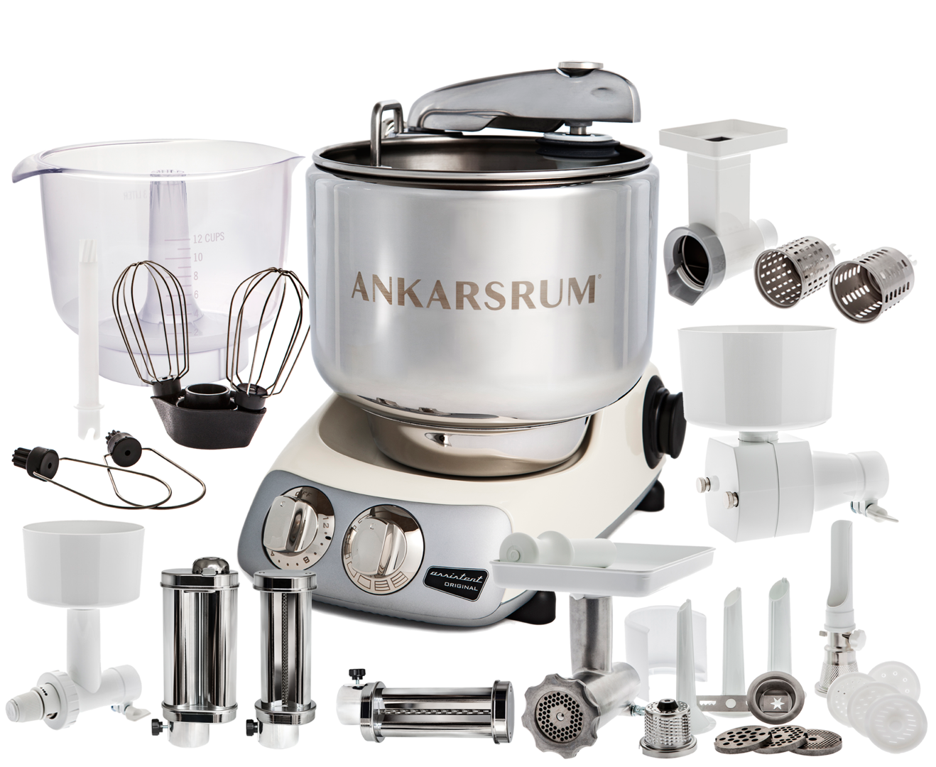 Ankarsrum Original AKM6220CL Total mixer, Creme light (2300110)