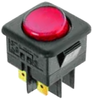 Switch with red indicator light