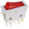 Power switch 11x30mm white, red light