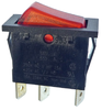 Power switch 16A red 12x28mm